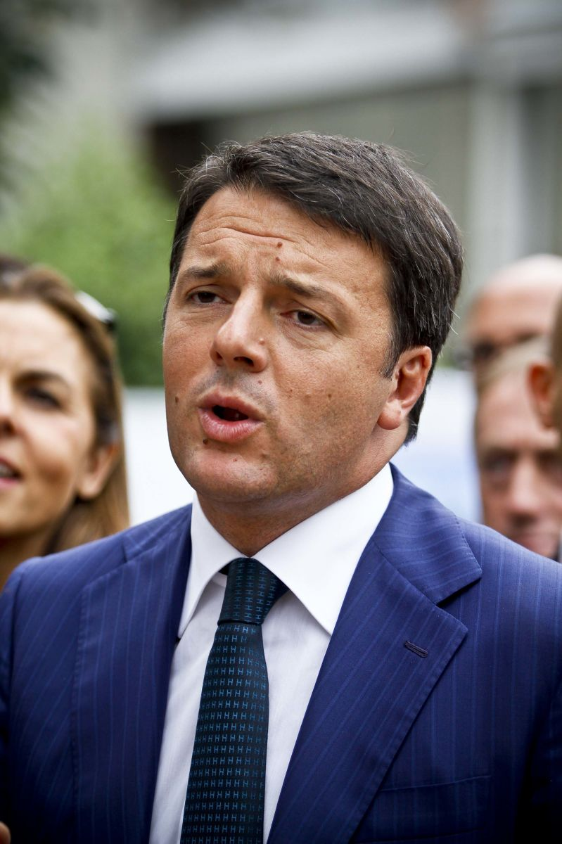 Italian Prime Minister Matteo Renzi visits L'Oreal factory, Turin, Italy - 17 Sep 2014